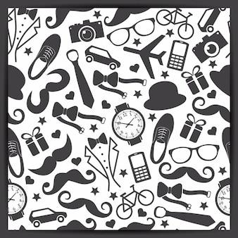 Seamless pattern di padri giorno illustrazione vettoriale