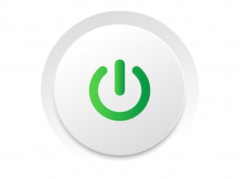Semplice gioco cerchio UI pulsante switch vettore formato vettoriale