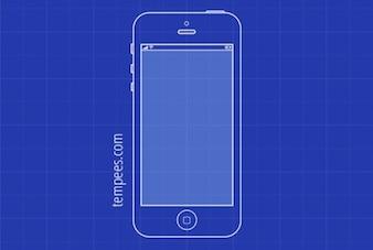 Semplice illustrazione modello di iPhone 5
