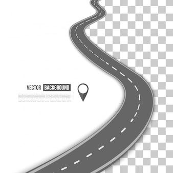 Sentiero vettoriale sulla strada.