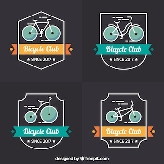 Set colorato di marchi di bici d'epoca