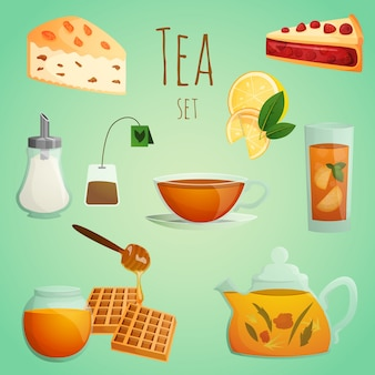 Set decorativo di tè