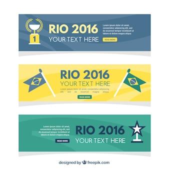 Set di astratto brasile 2016 banner