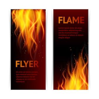 Set di bandiere della fiamma