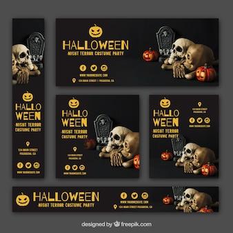 Set di banner di partito di Halloween