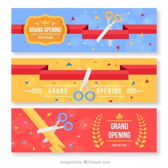 Set di banner in design piatto