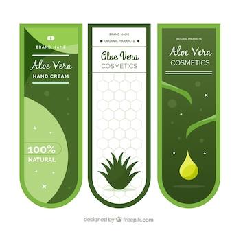 Set di banner per prodotti aloe vera
