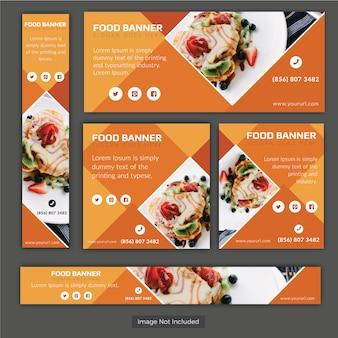 Set di banner vettoriali di cibo