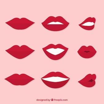 Set di bocche gesticolare