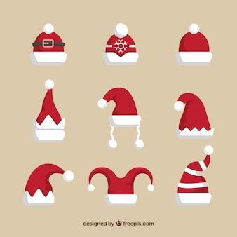 Set di cappello di Babbo Natale