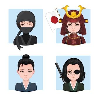 Set di donna vestita da guerriero
