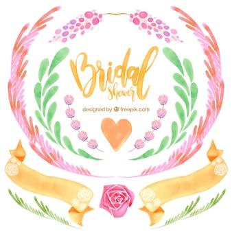Set di elementi decorativi di nozze