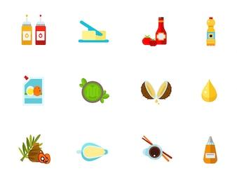 Set di icone Condimenti