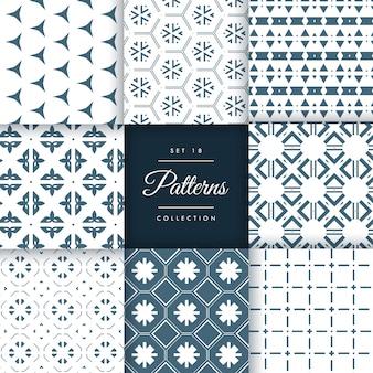 Set di incredibile sfondo vettoriale di design pattern
