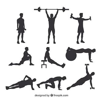 Set di maschi sagome CrossFit