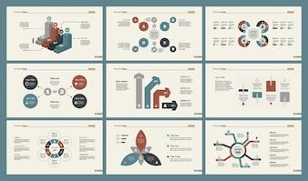 Set di modelli di diapositive di ricerca