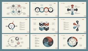 Set di modelli di diapositive di strategia