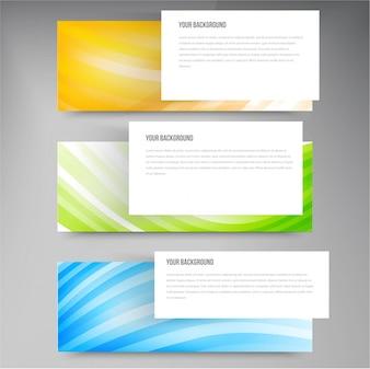 Set di moderni banner vettoriali con linee