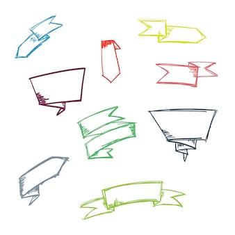 Set di nastro di doodle