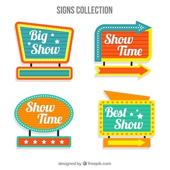 Set di poster locali luminosi