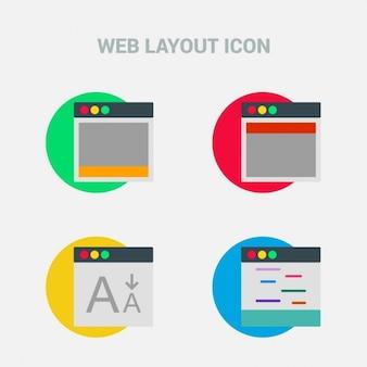 Set di quattro prototipi web responsive