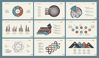 Set di sei modelli di diapositive