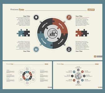 Set di tre modelli di diapositive di logistica
