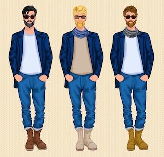 Set di uomo Hipster