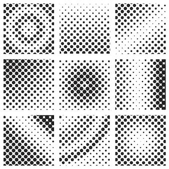 Set mezzetinte quadrato