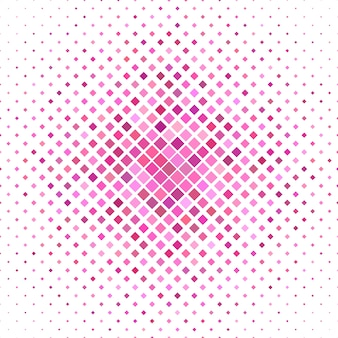 Sfondo a quadri colorati - grafica vettoriale geometrica da quadrati diagonali in toni rosa