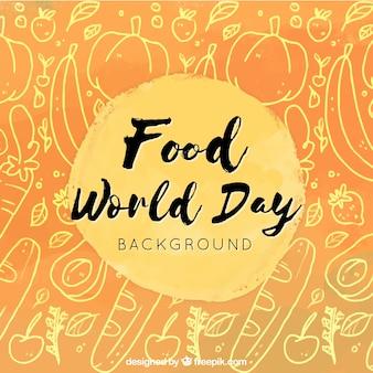 Sfondo arancione della giornata alimentare mondiale