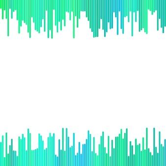 Sfondo astratto dalle righe verticali arrotondate verde - disegno grafico vettoriale geometrico