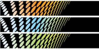 Sfondo Banner astratto Set 1