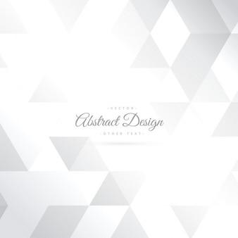 Sfondo bianco lucido forma astratta del triangolo
