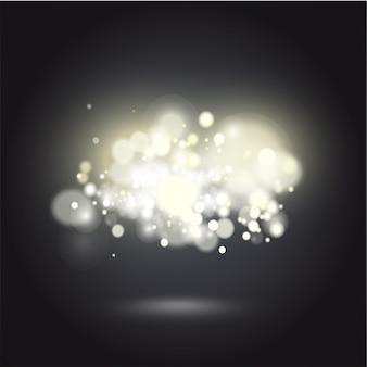 Sfondo bianco sfondo vibrante di notte