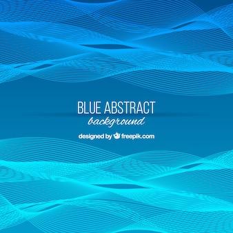 Sfondo blu con forme ondulate