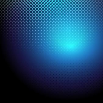 Sfondo blu punteggiato mezze
