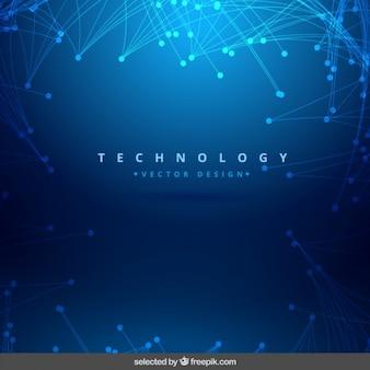 Sfondo blu splendente tecnologia