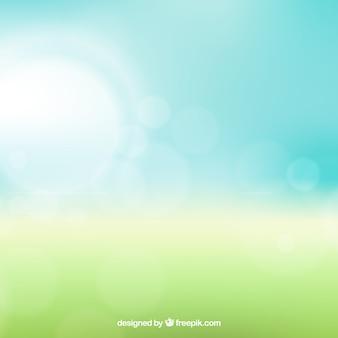Sfondo bokeh nei toni del verde e del blu