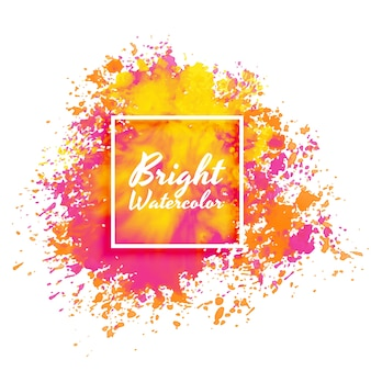 Sfondo brillante rosa e giallo splatter acquerello