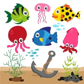 Sfondo colorato sealife
