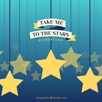 Sfondo con stelle e preventivo