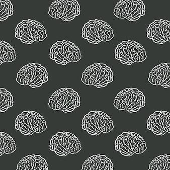 Sfondo del modello di cervelli umani