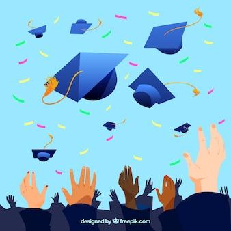 Sfondo del partito di laurea