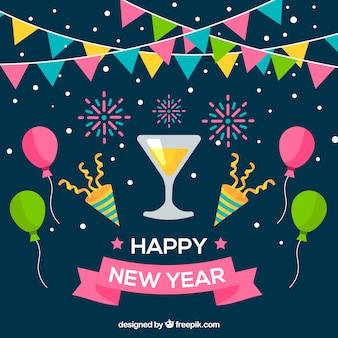 Sfondo del partito di nuovo anno