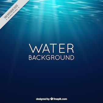 Sfondo di acqua con raggi del sole