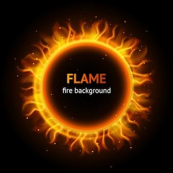 Sfondo di cerchio fiamma