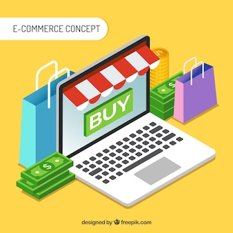 Sfondo di concetto di commercio elettronico