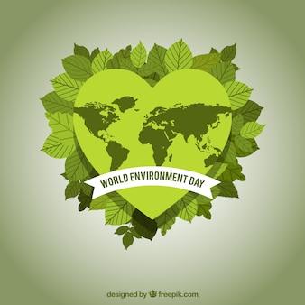 Sfondo di cuore ecologico