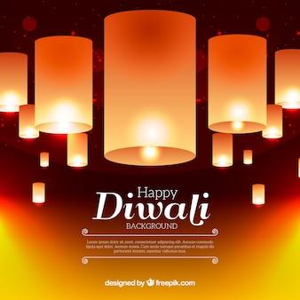 Sfondo di Diwali lampade